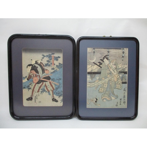 107 - Utagawa Toyokuyni III (1786-1864) Japanese (also known as Kumisada), three woodblock prints by the a...