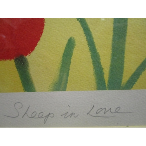 116 - Mackenzie Thorpe (b1956) - Sheep in Love - a signed artist proof, limited edition photo lithographic...
