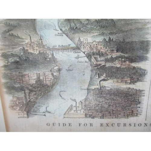 126 - A 19th century strip map Guide for Excursions of the River Thames from Eton to the Nore' Eaton to Va...