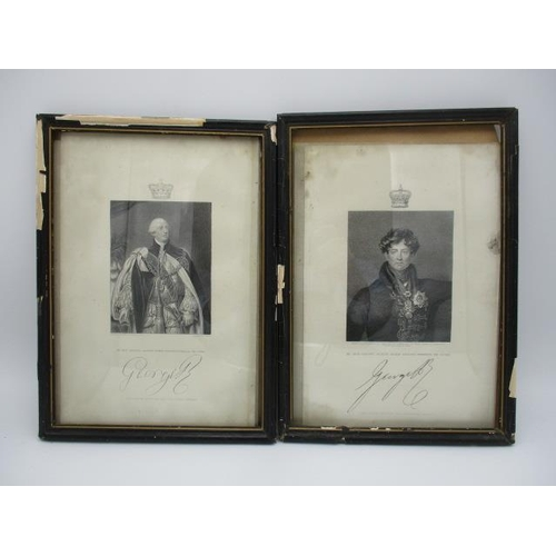141 - Two portraits of King George Augustus Frederick the Fourth and George William Frederick the Third by...