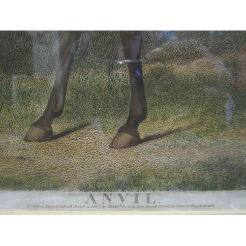 143 - George Townly Stubbs (1756-1815), after George Stubbs - 'Anvil' a coloured stipple engraving re publ...