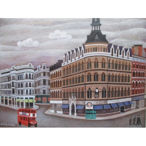 198 - Alfred Daniels 1924-2015 - Vanished London, Mappin & Webb, a view of Regent Street, London, with a b...