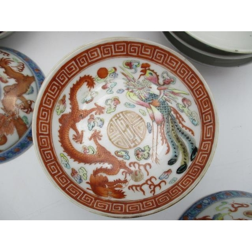 23 - 20th century Chinese ceramics comprising of four bowls 4 1/4