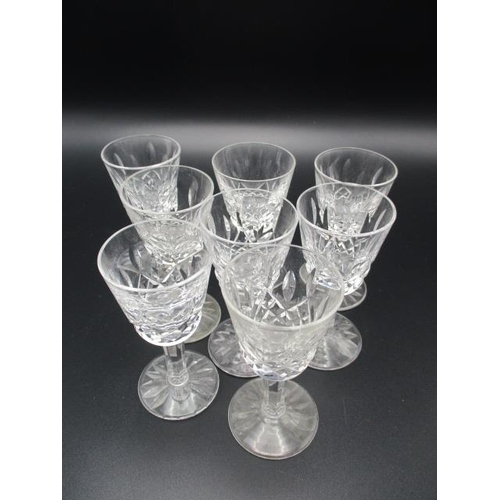264 - Waterford Crystal Lismore pattern table glassware to include, eight sherry glasses eight liqueur, si...