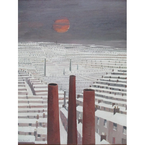 273 - Liam Henley - 'Urban Landscape with Chimneys' oil on canvas signed and dated '71 lower left corner 1...