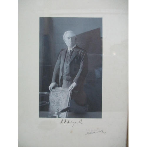 275 - Two portraits - Herbert Henry Asquith and Margaret Asquith monochrome prints each signed by the sitt...