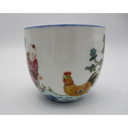 53 - 20th Century oriental ceramics comprising of a Chinese bowl decorated with a boy and chickens by flo...