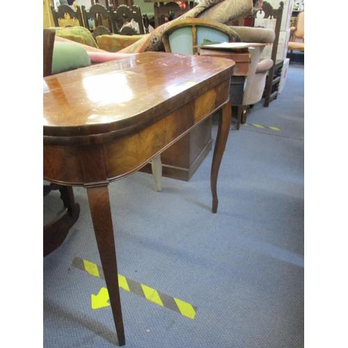 22 - An early 20th century mahogany fold over card table on cabriole legs A/F Location: RAM...