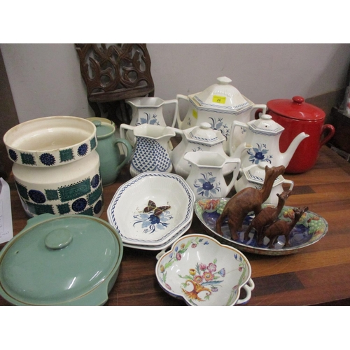 26 - Mixed mid to late 20th century household china to include Adams Baltic dinnerware, green glazed Denb...