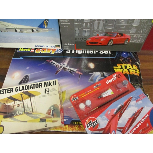 29 - Revell, Tamiya, Matchbox, Airfix and other unmade kits to include a P47D Thunderbolt Star Wars and o...
