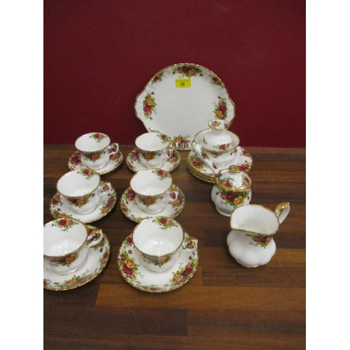 30 - Royal Albert Old Country Roses part teaset to include six cups and saucers Location: LAM...