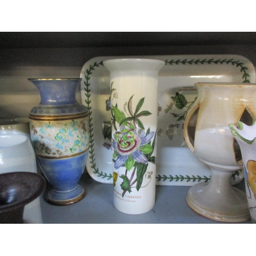 39 - A quantity of early to late 20th century ceramics and pottery to include a Royal Doulton vase A/F, m...