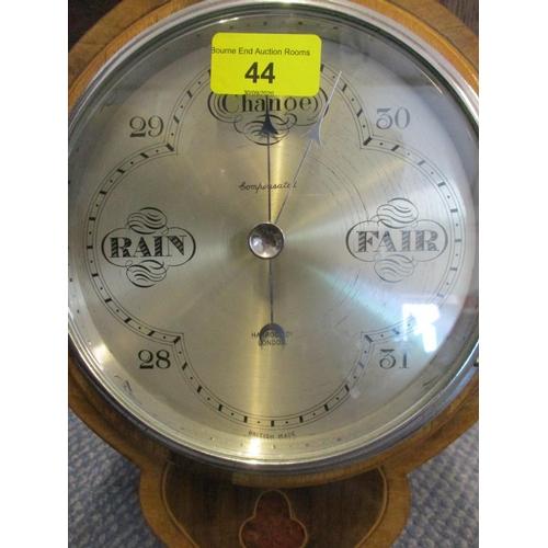 44 - A 20th century Harrods Ltd walnut framed banjo wall barometer Location: RWM...