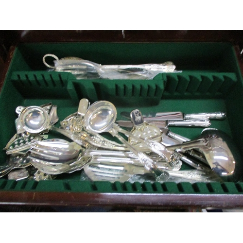 8 - A Harrods canteen of silver plated cutlery, knife deficient, together with an additional canteen of ...