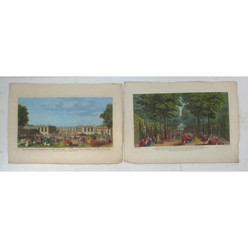 119 - After Jacques Rigaud - a view of the Palace of Triano in the part of Versailles and The Visto betwee...