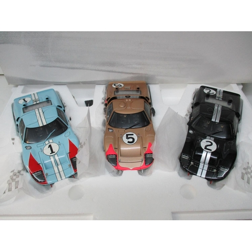255 - An Aficionado rare deluxe gift set of 1966 Le Mans 24 hour cars, limited edition box set of three Ex...