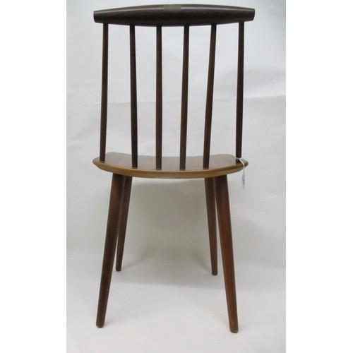 266 - A mid 20th century FDB Mobelfabrik dining chair designed by Folke Palsson model J77, in teak and har...