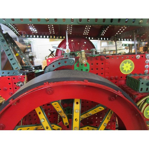 13 - A Meccano model in the form of a large working Traction Engine Winston Churchill II, electric motor ...