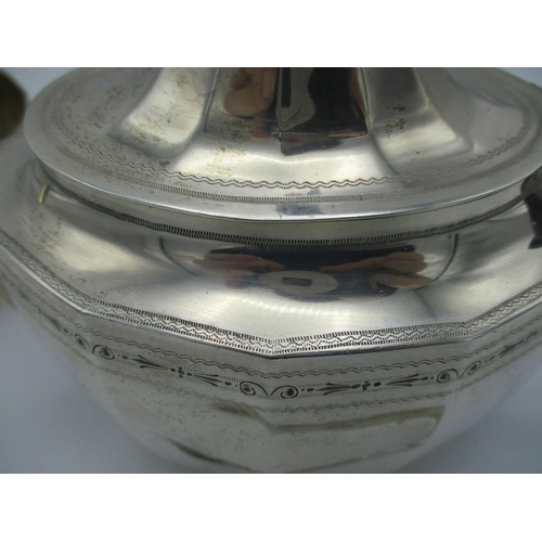 13 - A George V silver three piece tea set by Alexander Clark & Co Ltd, Sheffield 1923, comprising a teap...