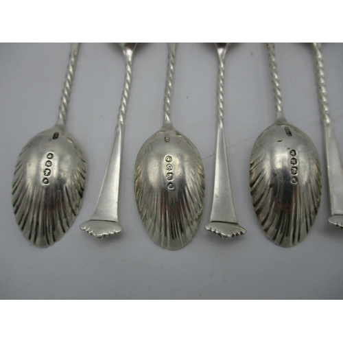 22 - A Victorian silver set of twelve coffee spoons by George Maudsley Jackson, London 1888, in the Onslo...