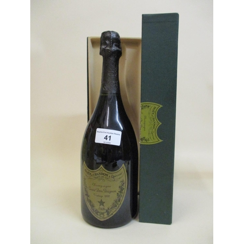41 - One bottle of Dom Perignon vintage Champagne, 1992...