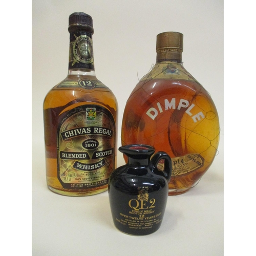 43 - One bottle of Dimple Haig Whisky and one bottle of Chivas Regal blended Scotch Whisky along with a 5...