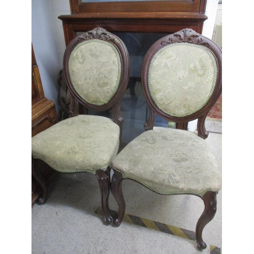 26 - A pair of Victorian mahogany framed balloon back dining chairs Location: A2...