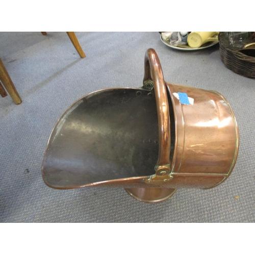 23 - An early 20th century copper coal bucket Location: RWM...