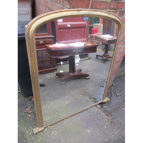 26 - A late 19th/early 20th century gilt wood overmantel mirror 133cm h x 123cm w Location: A3F...