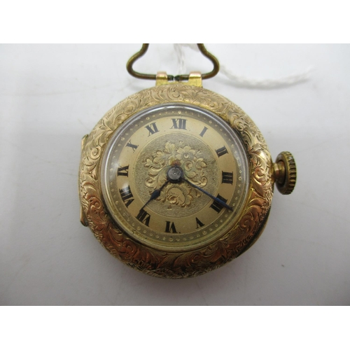 83 - A late 19th/early 20th century 9ct gold ladies fob watch having Roman numbers and the case having ma...