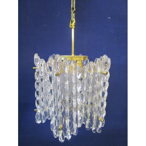 99 - A moulded glass ceiling light designed by Carl Fagerlund model number b1915, Swedish, designed for O...