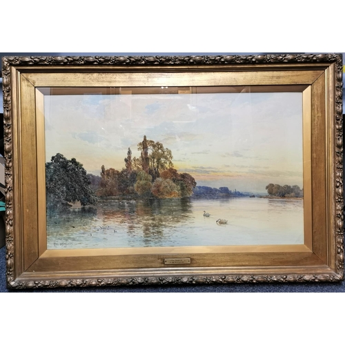 118 - Alfred de Breanski Senior (1852-1928) British 'The Thames' signed lower left and dated 1885, waterco...