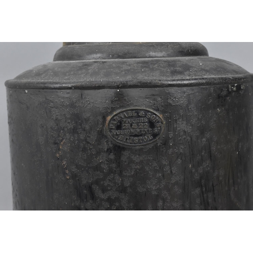 132 - A Victorian toleware tea canister by Parnall & Sons, Bristol, with gilt frieze decoration to the bod...