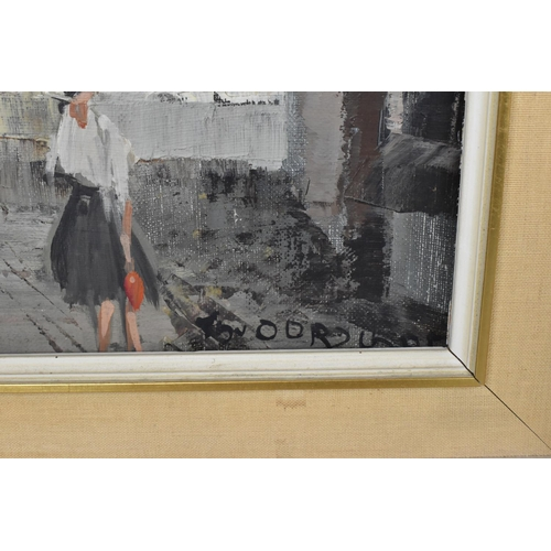 135 - Theodorus Van Oorschot (1910-1989) Dutch pair of paintings depicting a Continental market street sce...