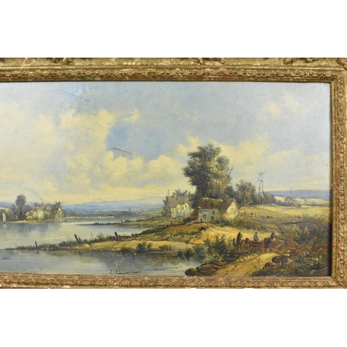 140 - Attributed to Alfred H. Vickers (1853-1907) British 'Loch Awe' depicting a riverside scene with cott...