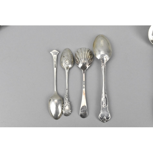19 - A pair of Victorian silver fiddle pattern sauce spoons by Chawner & co, London 1840 and 1841, togeth...