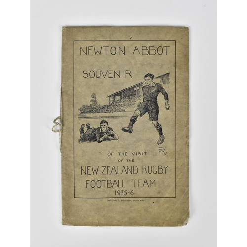 196 - Newton Abbot 1935-6 Souvenir of the visit of the New Zealand Rugby Football Team booklet with 28 pag...
