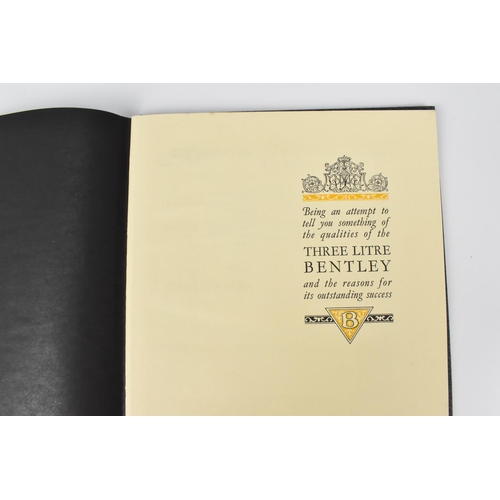 197 - An original 1924 copy of 'The Three Litre Bentley' brochure, with illustrations and sepia printed ph...
