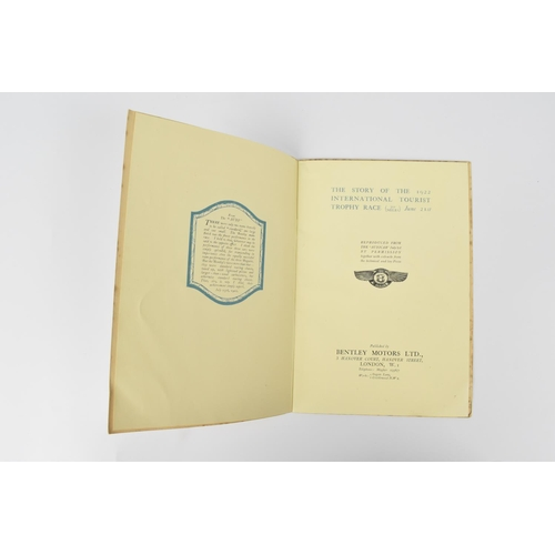 198 - A 1922 copy of The Blue Riband of English Motor Racing-The Story of the 1922 International Tourist T...