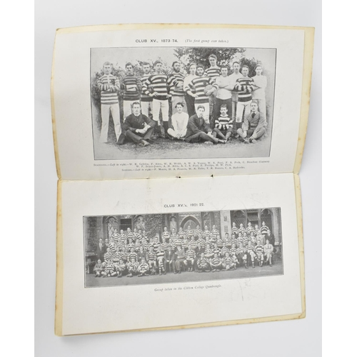 200 - A 1922 'Clifton Rugby Football Club' Jubilee Dinner Menu, held at the Grand Hotel in Bristol, with f...