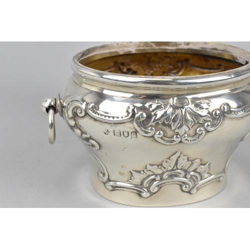 37 - An Edward VII silver tea caddy by William Hutton & Sons, London, 1903, of bombe form with embossed c...