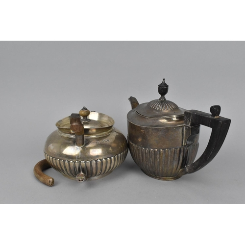 73 - A Victorian silver teapot by William Hutton & Sons Ltd, London 1894, together with another Victorian...