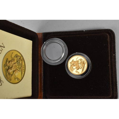 87 - A 1981 gold proof full sovereign in presentation case...
