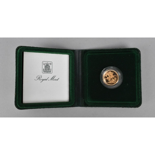 88 - A 1980 gold proof full sovereign in presentation case...
