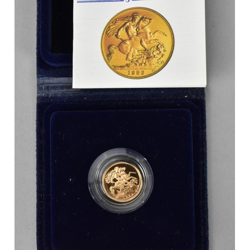 89 - A 1982 gold proof half sovereign in presentation case...