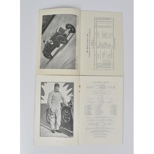 96 - Two British Racing Driver's club 500 Miles race at Brooklands Sat. Oct. 3, 1931 copies, one containi...