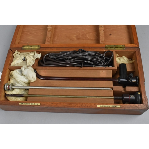 208 - Three cased medical cystoscopes, to include two by the Genito-Urinary Manufacturing Company Limited,...