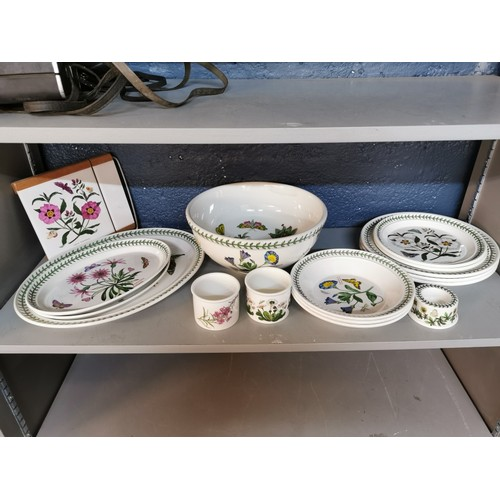 63 - A small collection of Portmeirion Botanic Gardens porcelain dinner ware, comprising three large plat...