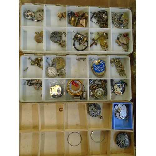88 - A quantity of antique watch movements to include one by Russells Limited, Liverpool Location: LAB...