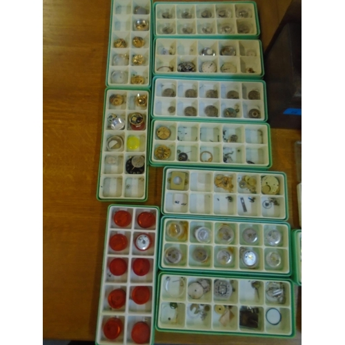 89 - A quantity of watch movements and parts for mid to late 20th century watches and other items Locatio...